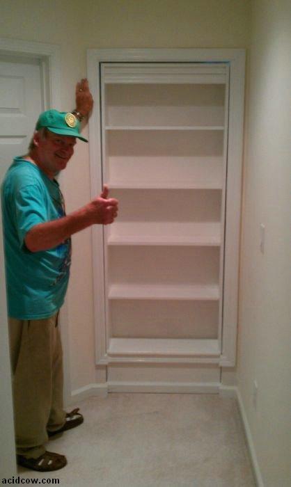 Hidden Door Bookshelf. DIY (16 pics)