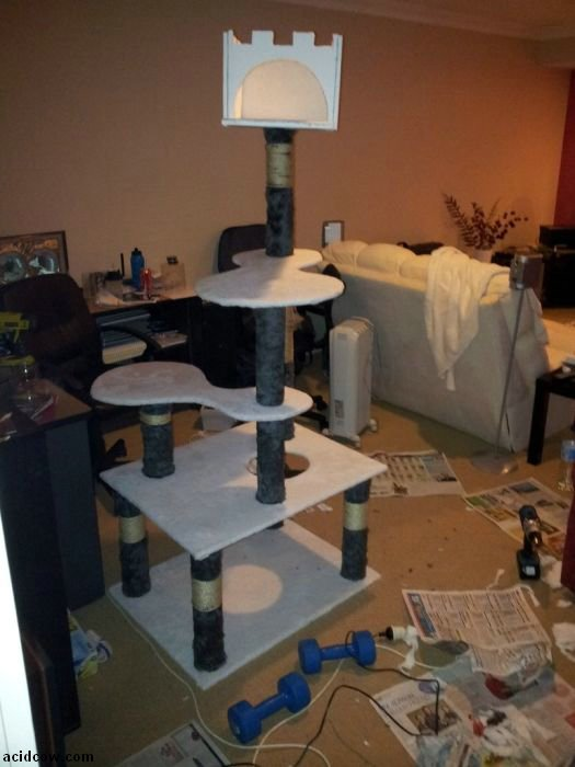 DIY Cat Tower (13 pics)