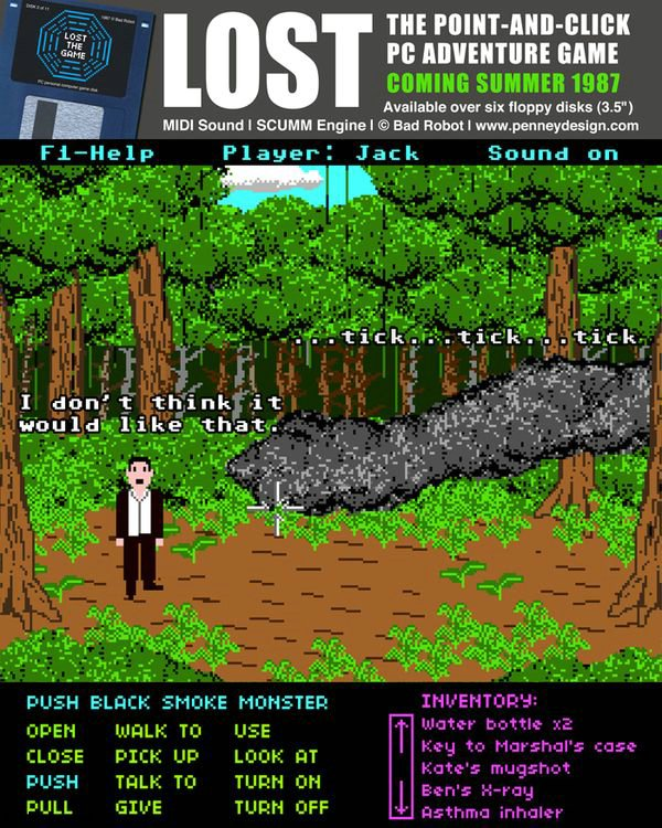 If LOST was a 1987 Point-and-Click Adventure Game (9 pics)