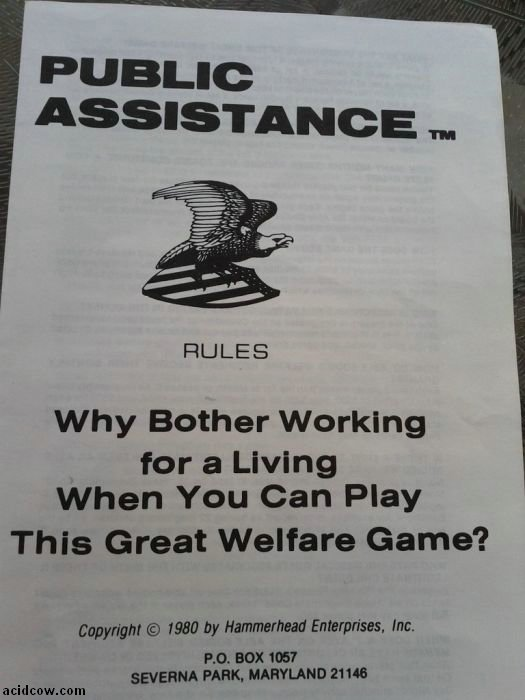 Public Assistance Board Game (17 pics)