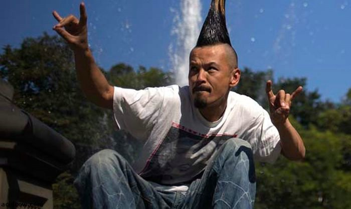 World's Tallest Mohawk (5 pics)