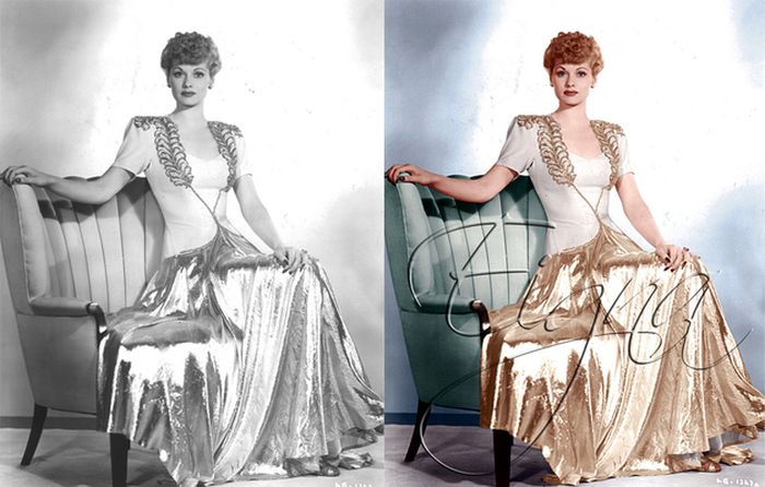 Classic Black and White Photos in Color. Part 2 (27 pics)