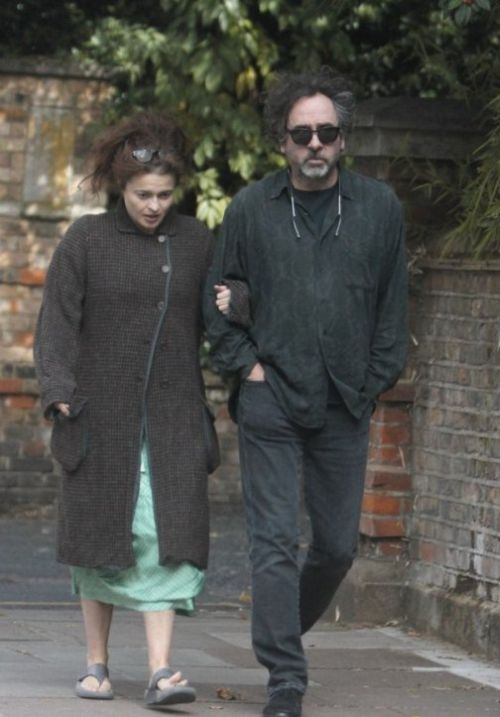 Helena Bonham Carter and Tim Burton in London (3 pics)