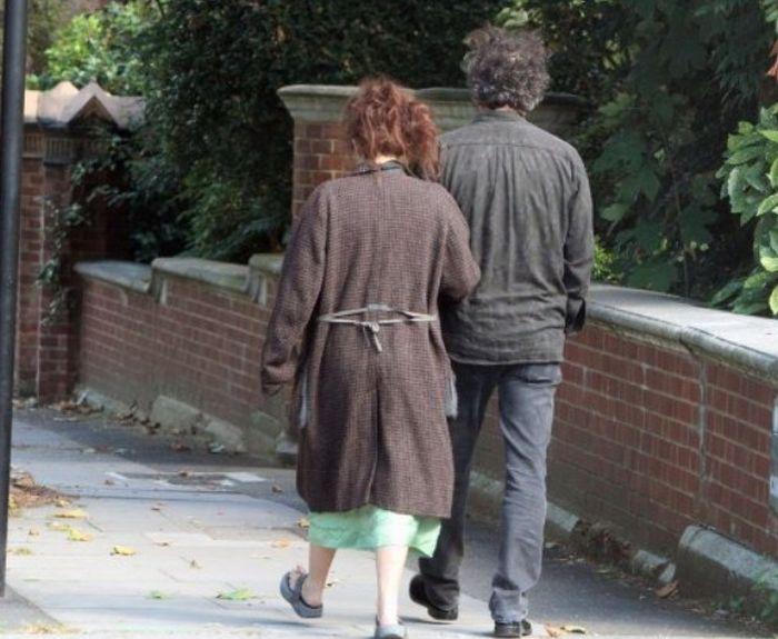 Helena Bonham Carter and Tim Burton in London (3 pics)