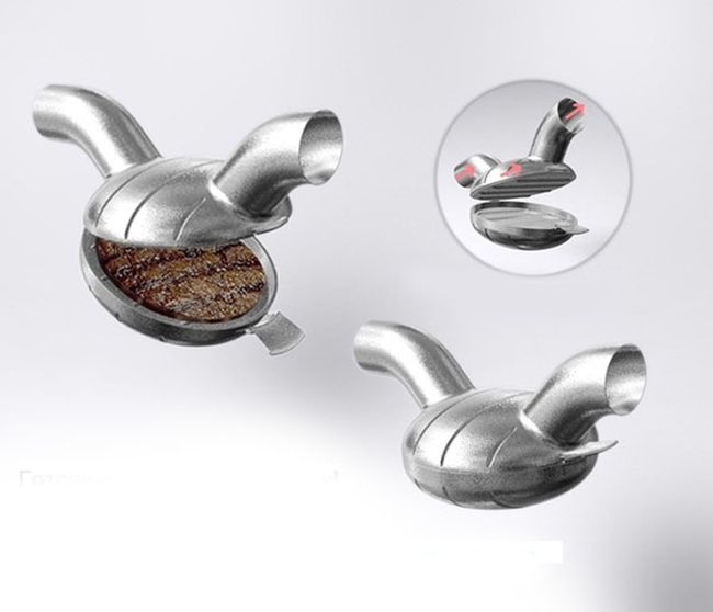 Cooking while Driving. Tailpipe Barbecue Grill (3 pics)
