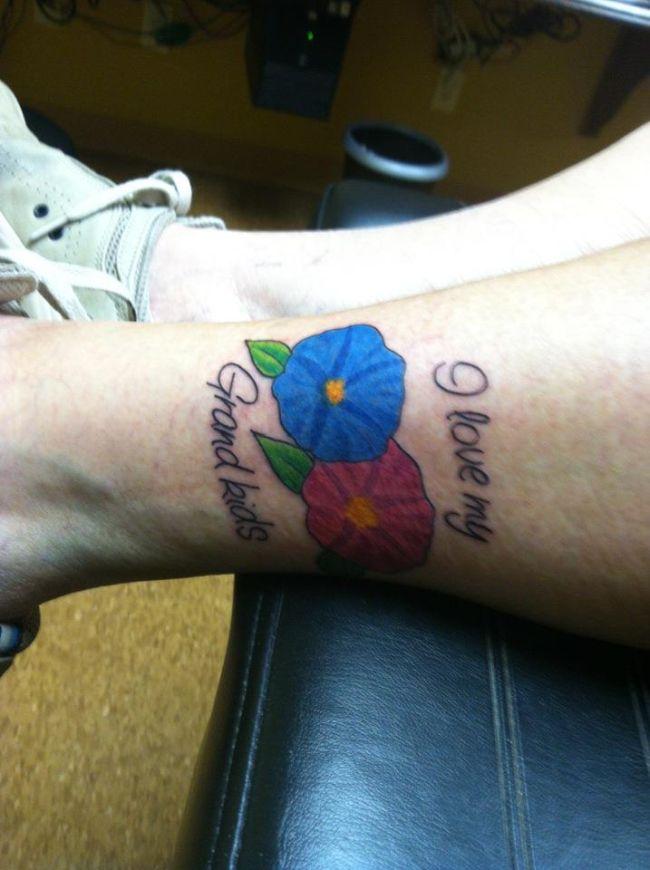 Grandma's First Tattoo at 83 (2 pics)