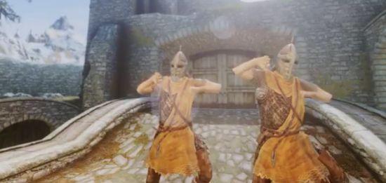 Hilarious Skyrim Gangnam Style Dance