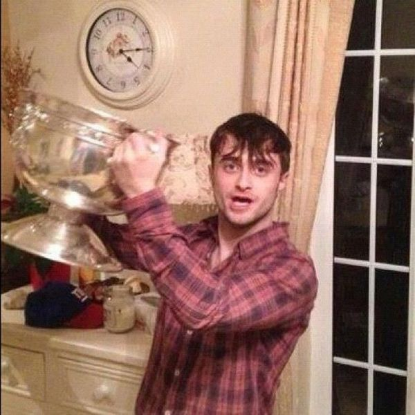 Daniel Radcliffe Parties with a Soccer Team (5 pics)