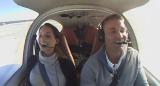 Amazing Wedding Proposal During The Flight