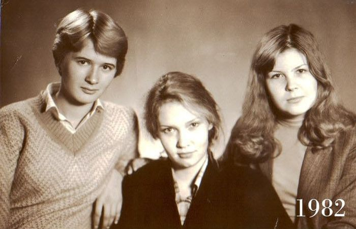 Three Girlfriends 30 Years Ago and Today (15 pics)