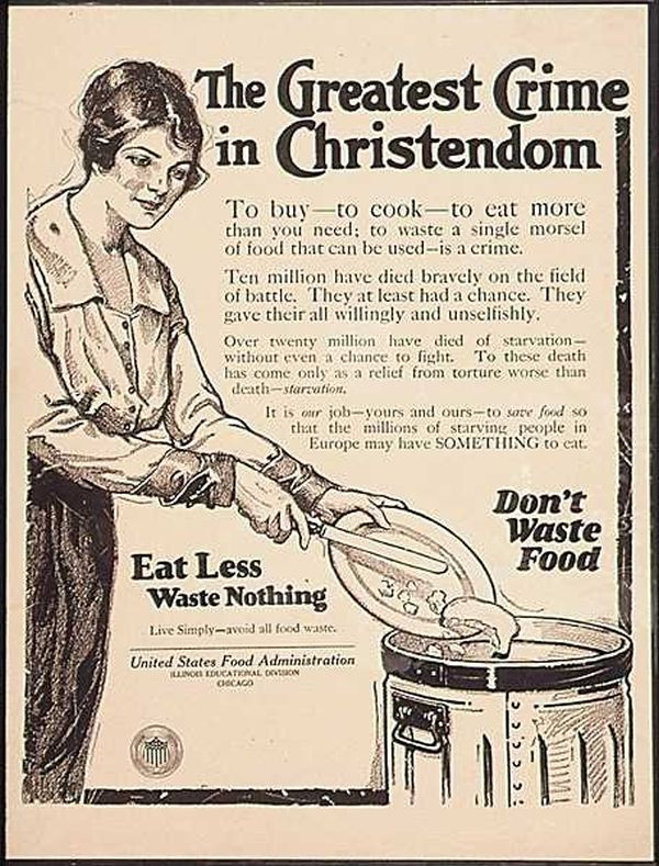 Don't Waste Food Vintage Posters (11 pics)