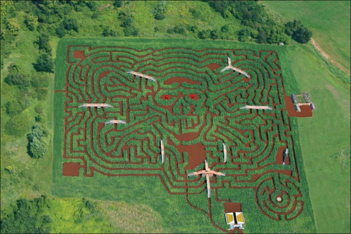 Awesome Corn Crop Maze Art (37 pics)