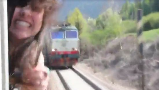 Unbelievable Train Close Call