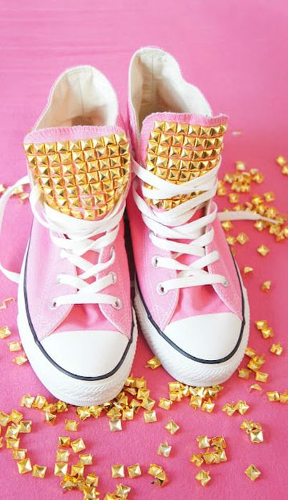 Studded all star converse 15