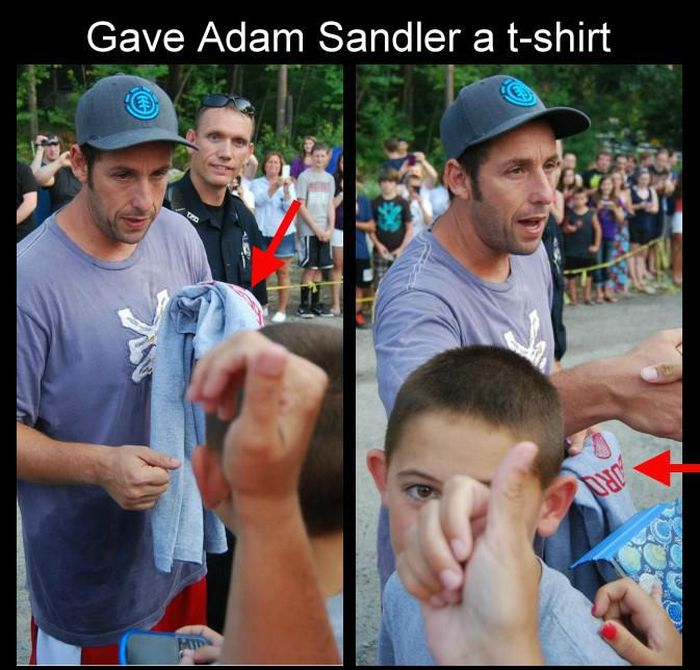 What Happens When You Give Adam Sandler a T-Shirt (3 pics)