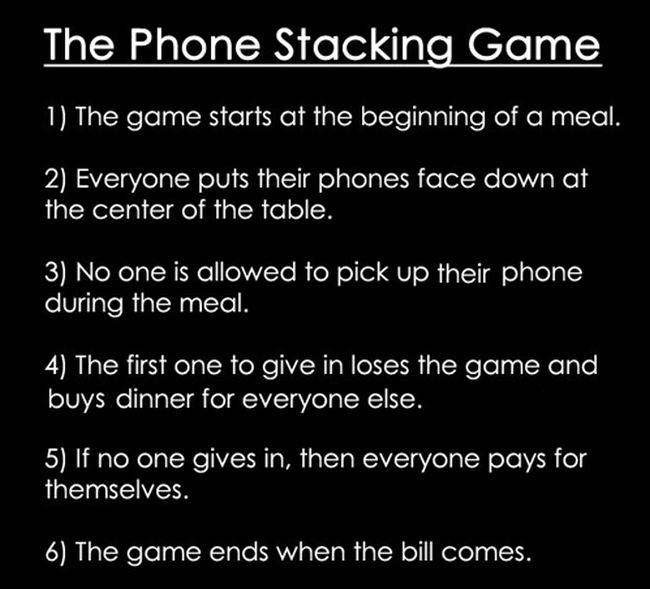 Phone Stacking Game (2 pics)