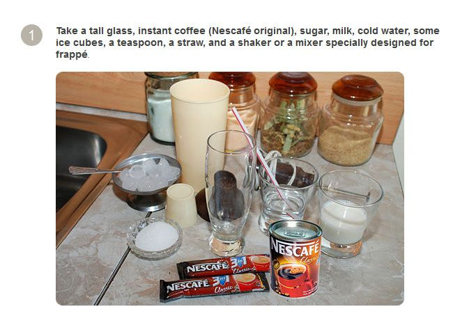 How to Make a Traditional Greek Frappe (8 pics)