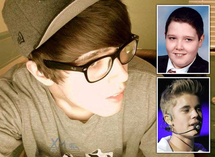 Fat Boy Turns Into Justin Bieber (13 pics)