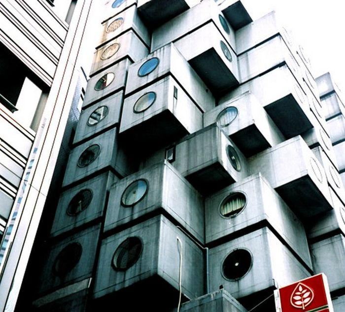 Nakagin Capsule Tower in Tokio (20 pics)