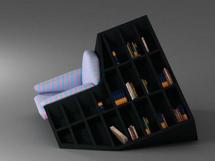 Creative Bookshelf Designs (72 pics)