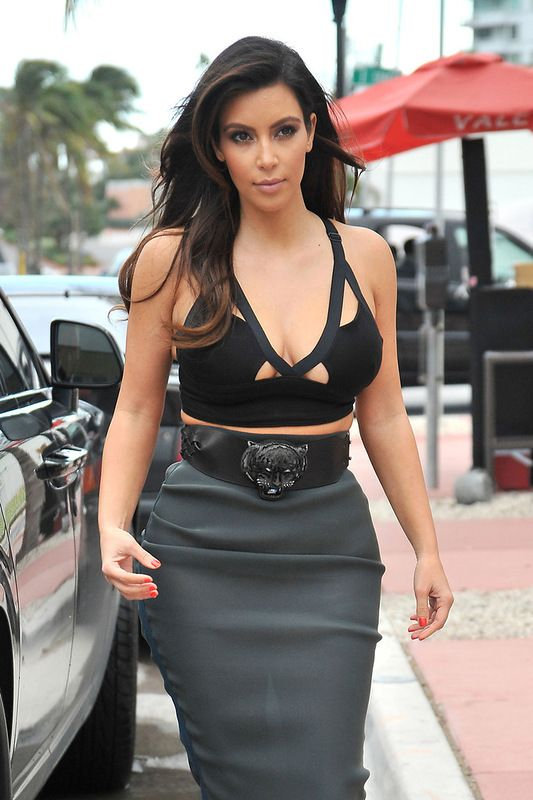 Kim Kardashian in a See Thru Dress (10 pics)