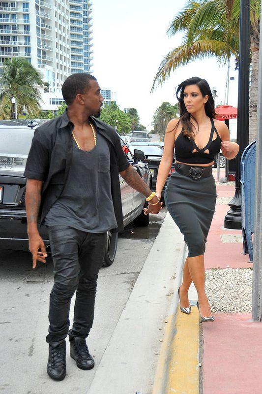 Kim Kardashian in a See Thru Dress (10 pics)