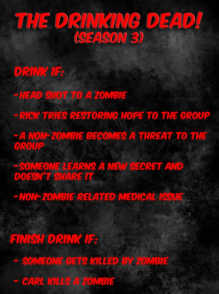 The Walking Dead Drinking Game (1 pic)