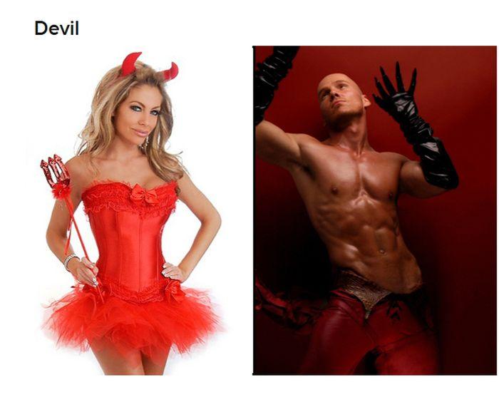 Straight Women vs Gay Guys Halloween Costumes (19 pics)