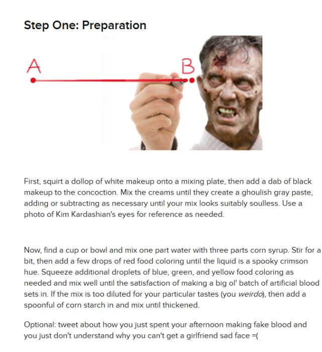 How To Make a Zombie Costume In 30 Minutes (9 pics)