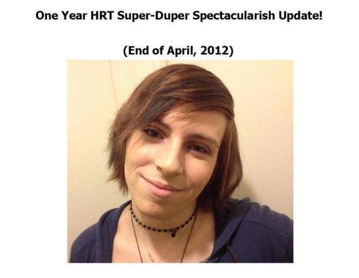 From Male to Female in One Year (21 pics)
