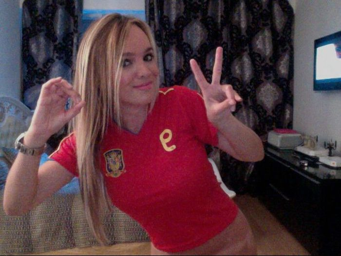 "Virginie ""Caprice"" Gervais Makes Soccer Match Predictions (21 pics)"