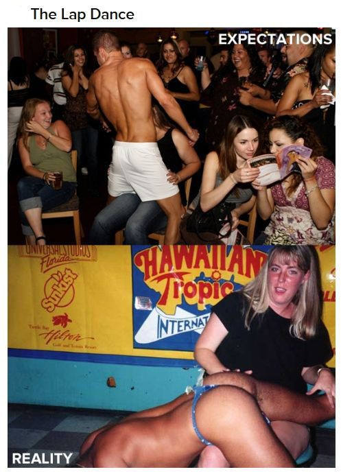 Expectations VS Reality: The Male Strip Club (10 pics)