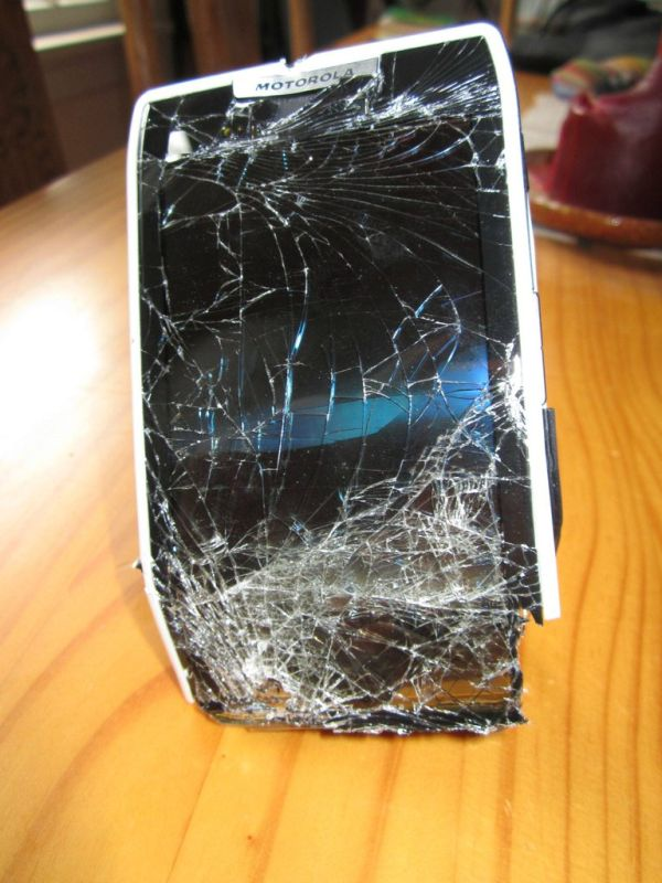 What Happens When Your Bike Eats Your Phone (4 pics)