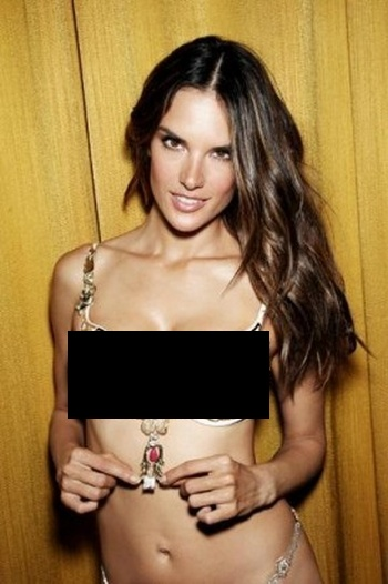 Alessandra Ambrosio and Secret Bra (9 pics)