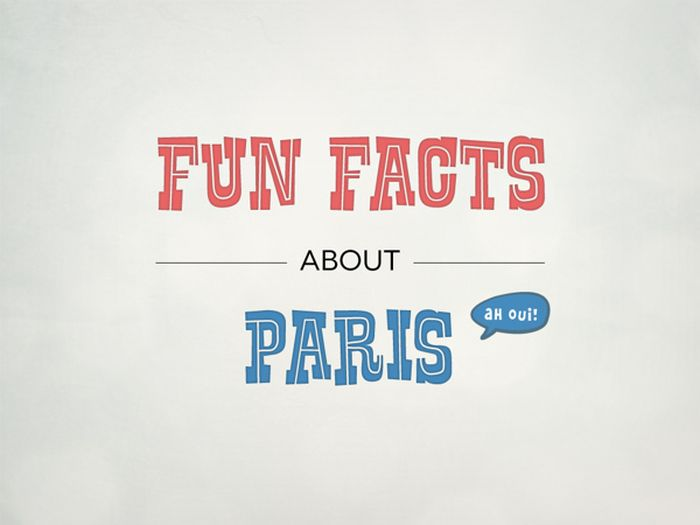 Fun Facts about Paris (infographic)
