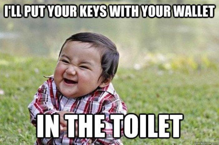 Evil Toddler Meme (16 pics)