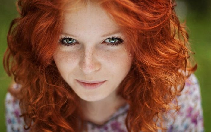 sexy red headed woman
