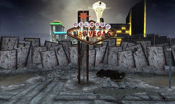 "The Real Las Vegas vs Las Vegas in ""Fallout"" Video Game (21 pics)"
