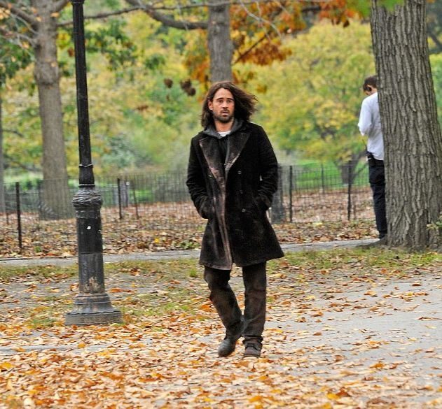 Colin Farrell on the Set of Winter's Tale (4 pics)