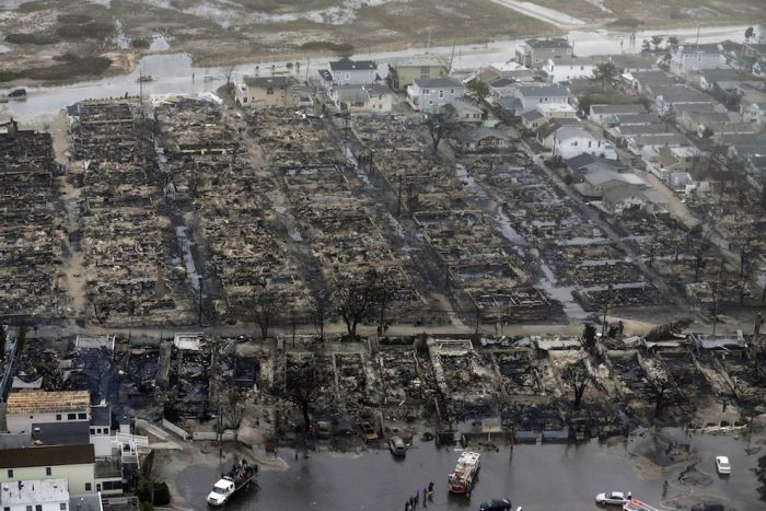 Aerial Photos Of The Fire Destruction In Breezy Point (9 pics)