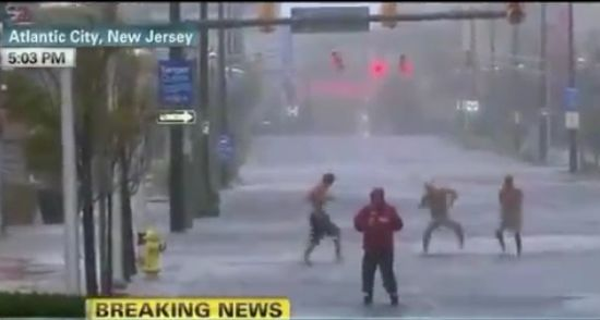 Crazy People Who Are Having Fun During The Hurricane