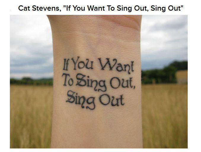 Song Lyric Tattoos (22 pics)