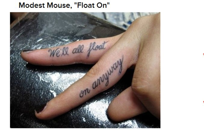 Song Lyric Tattoos (22 pics)