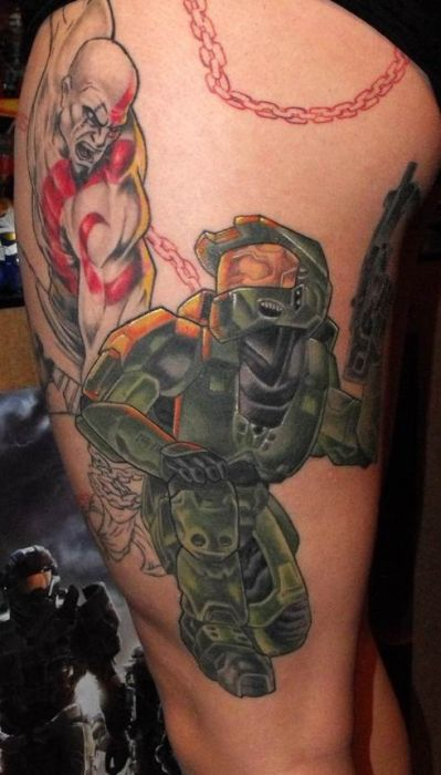 Tattoos of Halo Fans (35 pics)