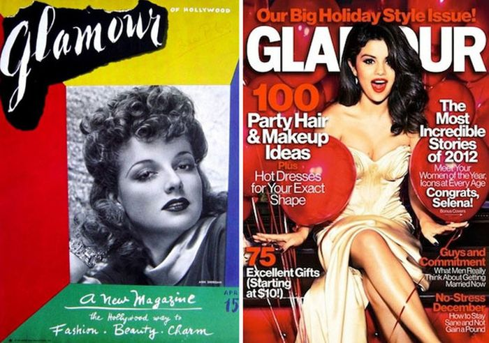 Women's Magazines, Then And Now (23 pics)