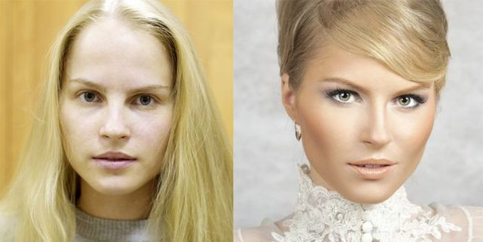 How Make-up Can Change a Girl (20 pics)