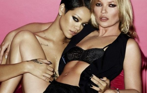 Rihanna and Kate Moss Topless (5 pics)