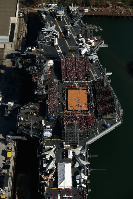 College Basketball Game Played On An Aircraft Carrier (21 ...
