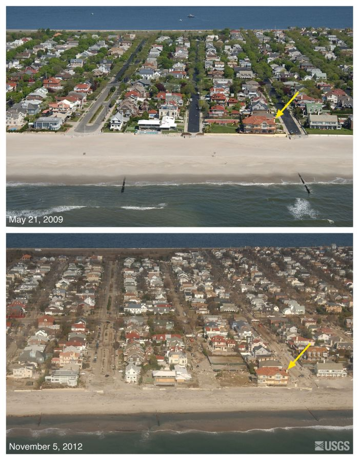 Before-And-After Photos of Hurricane Sandy's Devastation (9 pics)