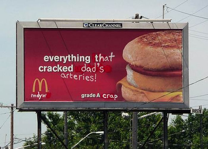Billboards Enhanced By Graffiti (40 pics)